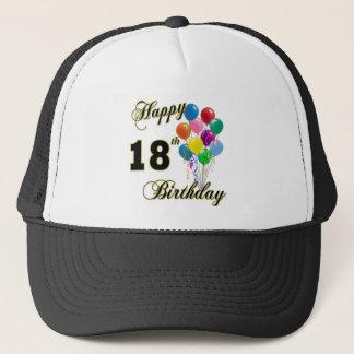 18th födelsedaggåvor för lycklig truckerkeps