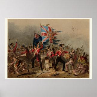 18th Kunglig irländsk Regiment på den Amoy chinan Poster