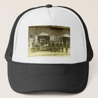 1900sbrandmän och deras motor truckerkeps