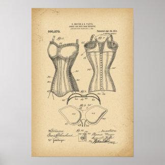 1902 patentera korsetten, och bysten bildar poster