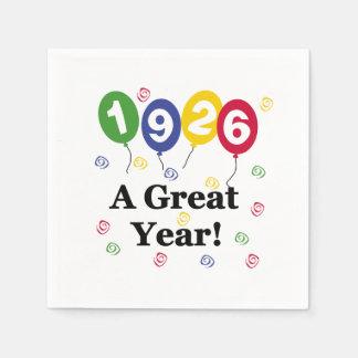 1926 för ett födelsedagpapper för underbart år papper servetter