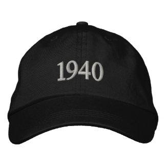 1940 broderad justerbar hatt för personlig broderad keps