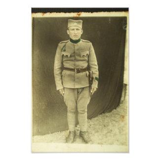 1942 serbiska soldat fototryck