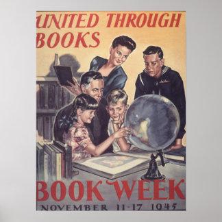 1945 barns affisch för bokvecka