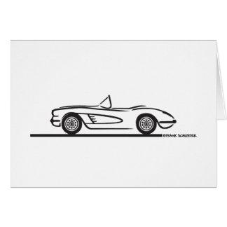 1959 1960 Chevrolet Corvette Hälsningskort
