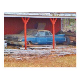 1960 antikvitetbil för BLÅTT SADAND DEVILLE Vykort