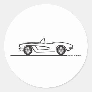 1961 1962 Chevrolet Corvette Runt Klistermärke