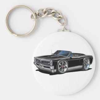 1966/67 svart cabriolet för GTO Rund Nyckelring