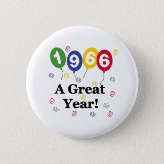 1966 en födelsedag för underbart år standard knapp rund 5.7 cm