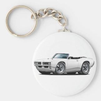 1968-69 GTO-vitcabriolet Rund Nyckelring