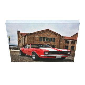 1968 chevy camaro för toppen sport canvastryck