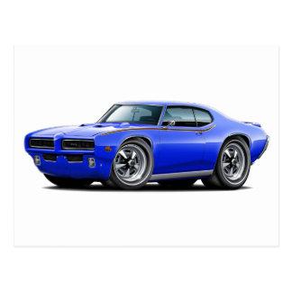 1969 bil för billykta för GTO-domare blått gömmd Vykort