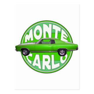 1970 monte - carlo grön mamba vykort
