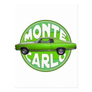 1970 monte - carlo gröntmaskin vykort