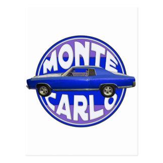 1970 monte - carlo midnatt blått vykort