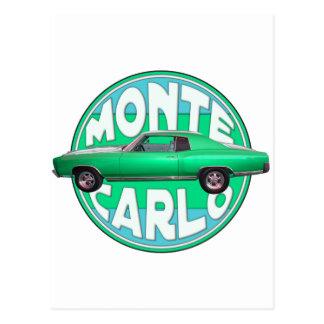 1970 monte - carlo seafoamjade vykort