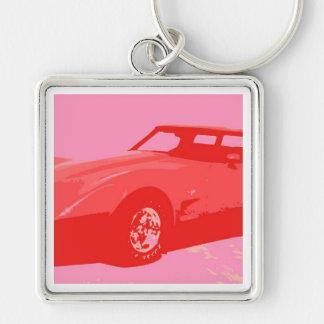 1979 röda klassikerbil nyckelring