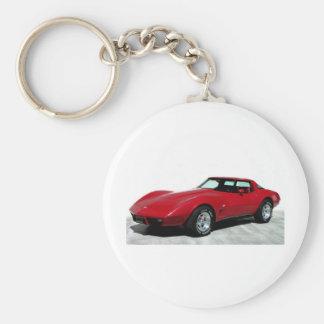 1979 röda klassikerbil rund nyckelring