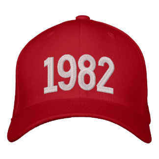 1982 år broderad keps