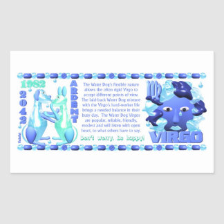 1982 kinesiska zodiacvattenhund bördiga Leo Rektangulärt Klistermärke