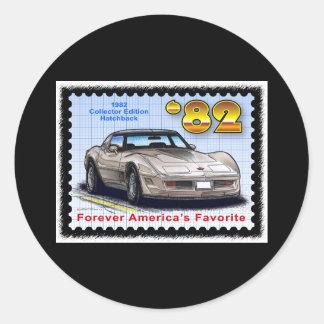 1982 speciella upplaga Corvette Runt Klistermärke