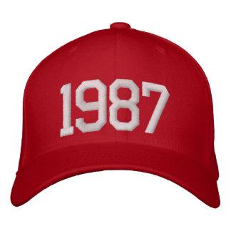 1987 år broderade kepsar