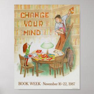 1987 barns affisch för bokvecka