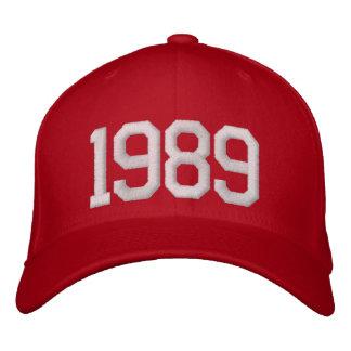 1989 år broderad keps