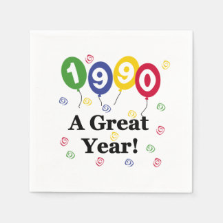 1990 för ett födelsedagpapper för underbart år servett
