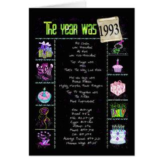 1993 roliga fakta för födelsedag hälsningskort