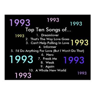 1993 sånger vykort