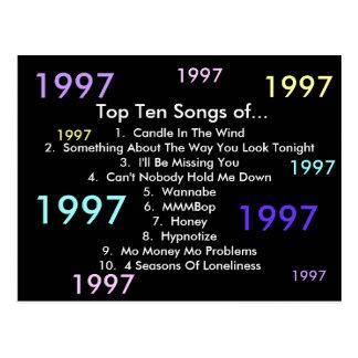 1997 sånger vykort