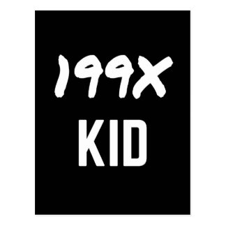 199X ninetys illustrationdesign för generation X Vykort