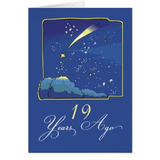 19th Adoptionårsdag med stjärnor och natthimmel Hälsningskort