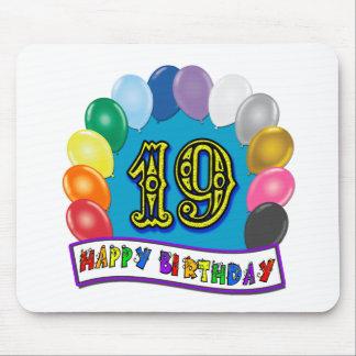 19th Födelsedaggåvor med blandad ballongdesign Musmatta