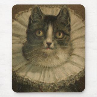 19th Tryck för katt för för århundradevintagegrått Musmatta