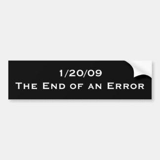 1/20/09: Avsluta av ett fel Bildekal