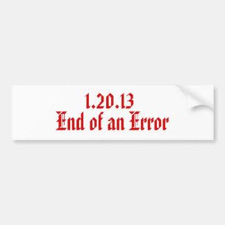 1.20.13 avslutar av ett fel bildekal