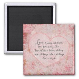 1 Cor 13 - kärlek är tålmodig kärlek är snäll Magnet