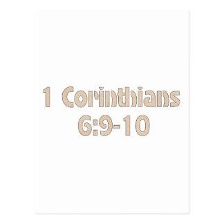 1 Corinthians6:9 - 10 Vykort