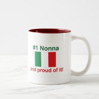 #1 italienska Nonna (farmodern) Två-Tonad Mugg