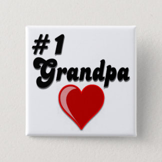 #1 morfar - morförälder dag standard kanpp fyrkantig 5.1 cm
