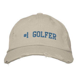 #1 numrerar en golfaren broderad hatt