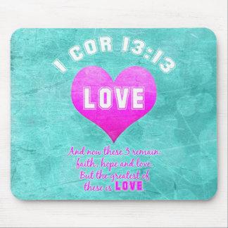 1 religiösa för Verse för bibel för Cor13:13KÄRLEK Musmatta