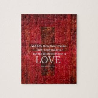 1 VERSE för Corinthians13:13BIBEL OM KÄRLEK Pussel