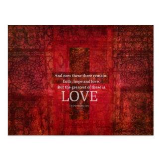 1 VERSE för Corinthians13:13BIBEL OM KÄRLEK Vykort