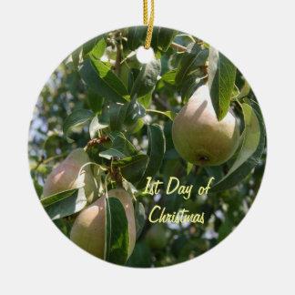 1st Dag av julPearträd Julgransprydnad Keramik