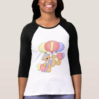 1st födelsedag för björn och för ballonger t-shirt