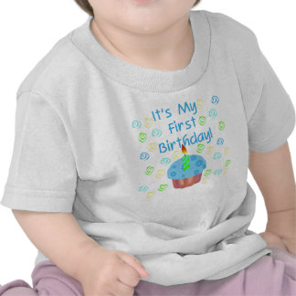 1st födelsedag för blåttmuffin tshirts