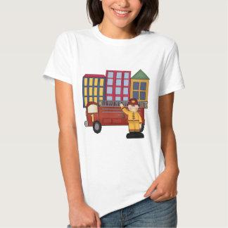 1st födelsedag för brandman t shirt